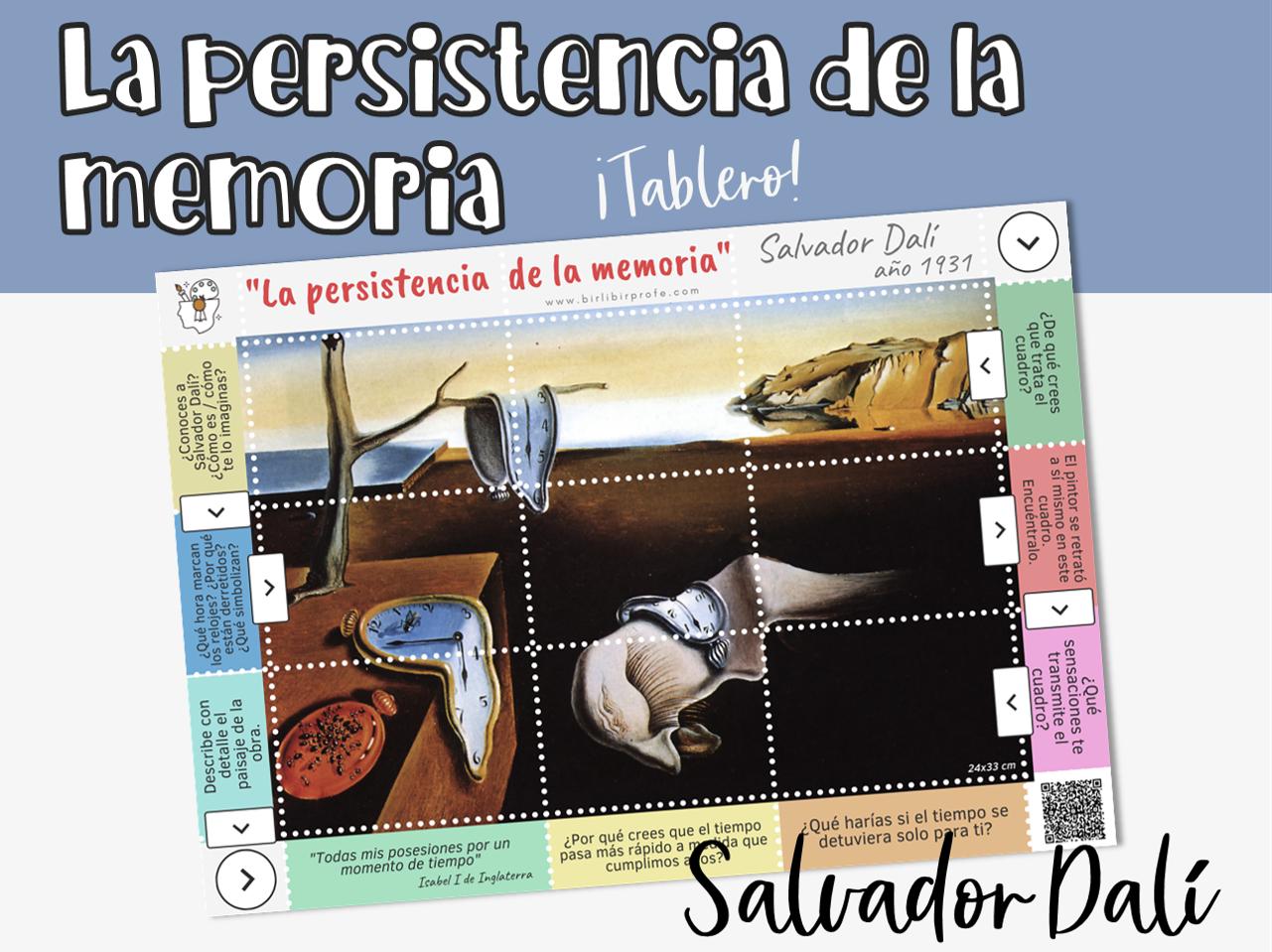 arte cuadro Dalí para clase de español ELE