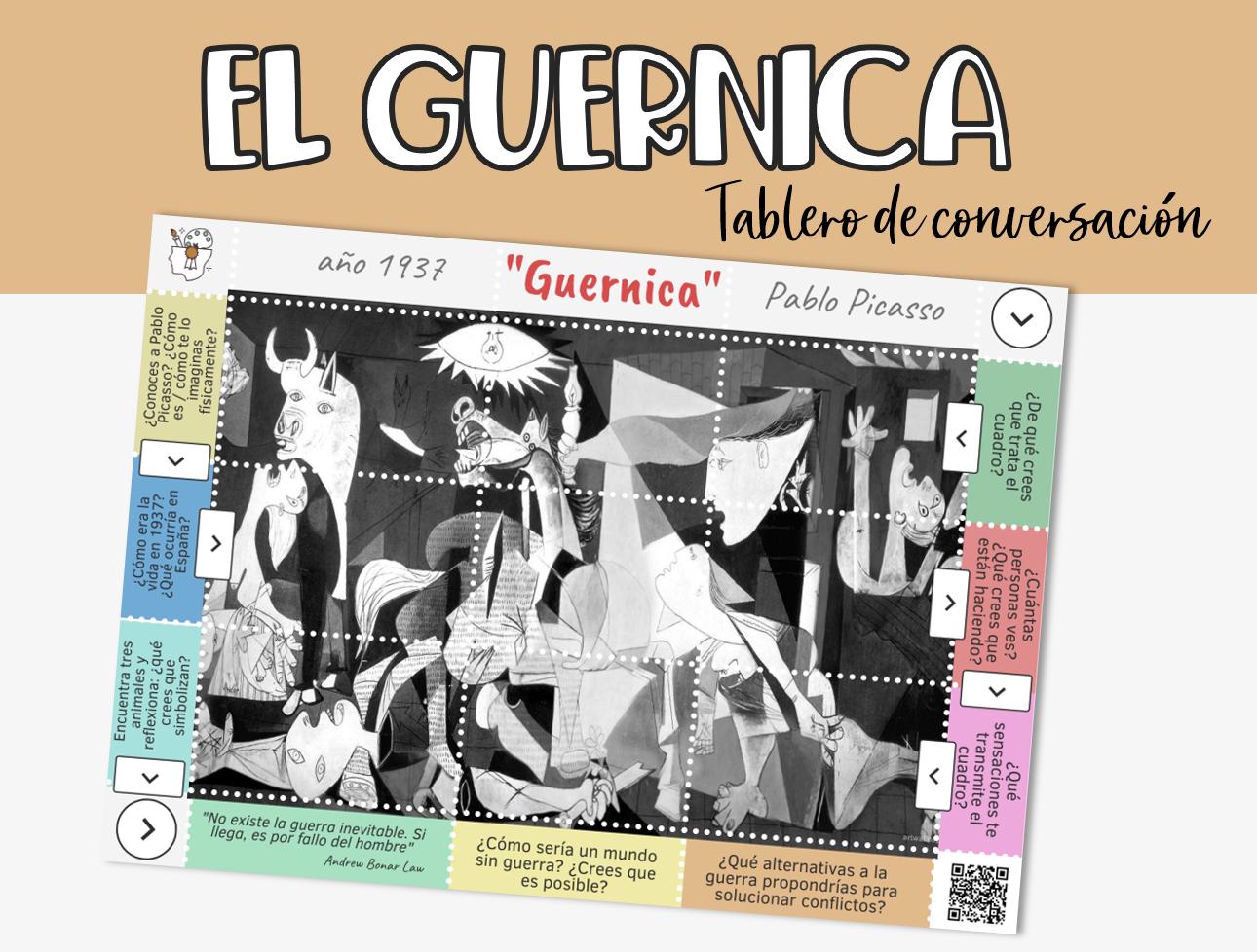 ``Guernica``: tablero de conversación sobre el cuadro de Pablo Picasso