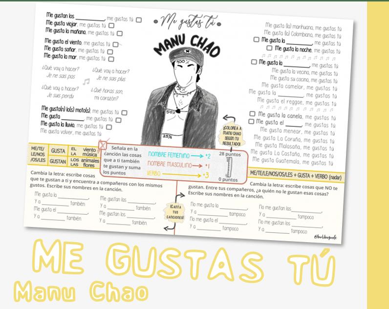 ``Me gustas tú``, de Manu Chao
